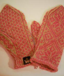 fausthandschuhe norweger pink-gruen S
