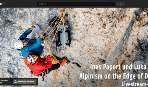 Artikelbild zu Artikel Live Vortrag von Ines Papert & Luka Lindic: Alpinism on the Edge of Dreams