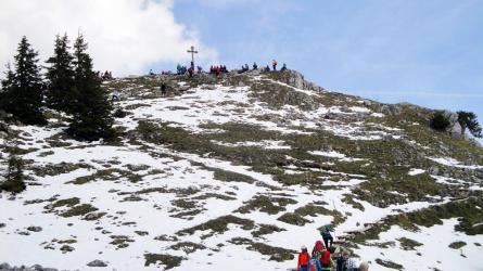 Schweinsberg über Kesselalm: Leichte Schneeschuhtour bei Birkenstein