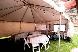 Tables in the Wedding Tent