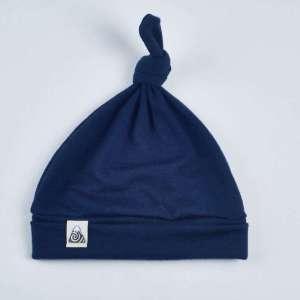 bonnet à noeud bleu marine
