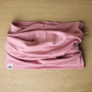 snood merinos fait main vieux rose