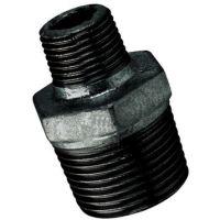 2″X1.1/4″  BSPT Male Hex Nipple Black | FTM