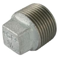 1″  BSPT Male Solid Plug Galv Gf291Sg | George Fischer