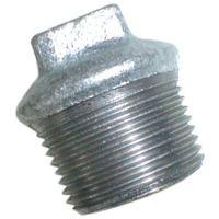 1/2″  BSPT Beaded Hollow Plug Galv | EE