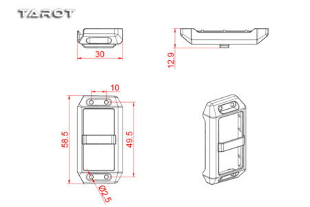 Tarot RC Heli 550 and 600 Servo Swashplate Cover/Green