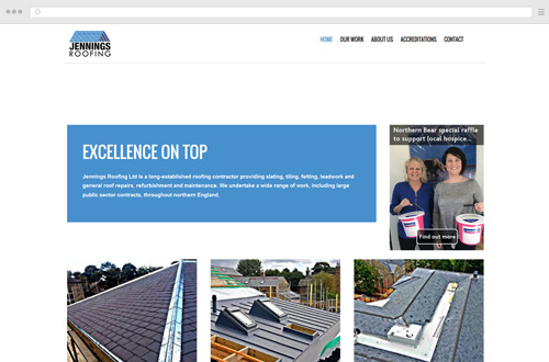 Jennings Roofing Website