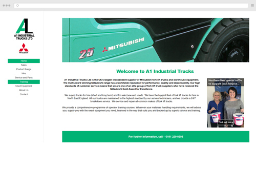 A1 Industrial Trucks Website