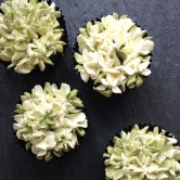 Goma Cupcakes with Matcha Swiss Meringue Buttercream, $58 for 1 dozen (delivery within Singapore), $48 for 1 dozen (self-collect)