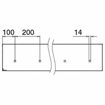"Easy Glass Pro ""Y"", base shoe, fascia mount, l=5000 mm"