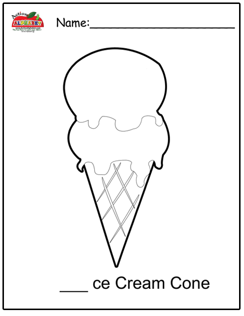 Snow Cone Coloring Pages