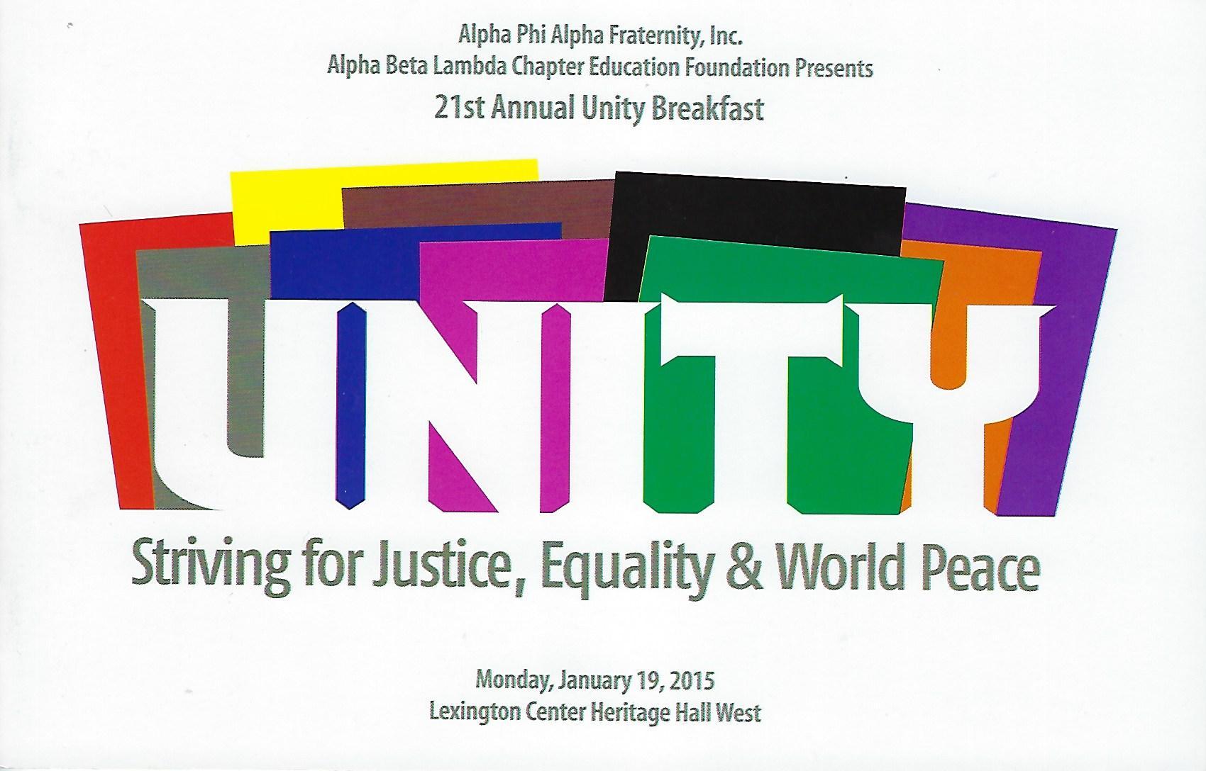 unity breakfast alpha beta