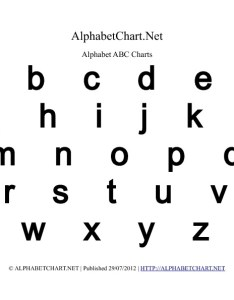 Lowercase bold alphabet letter chart in pdf also charts normal  italic rh alphabetchart