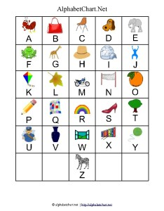 Uppercase alphabet letter chart with pictures also printables for children download free  pdf charts rh alphabetchart