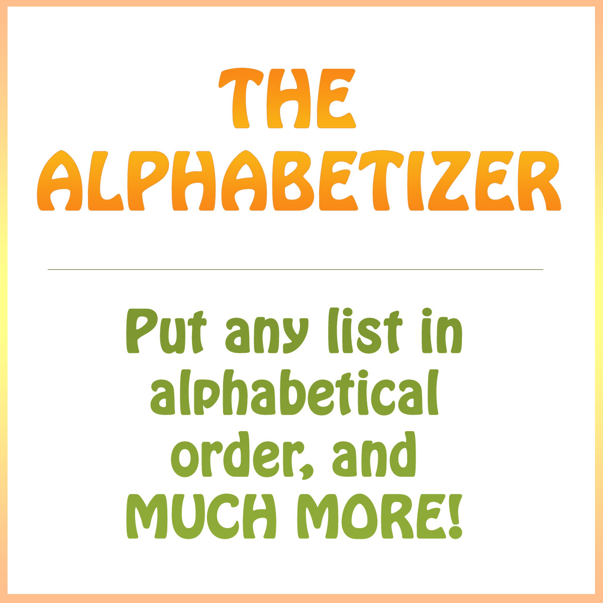 Works Cited Alphabetical Order Generator