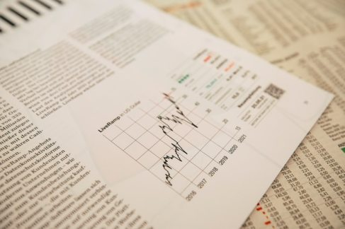 A piece of paper with graphs and technical data
