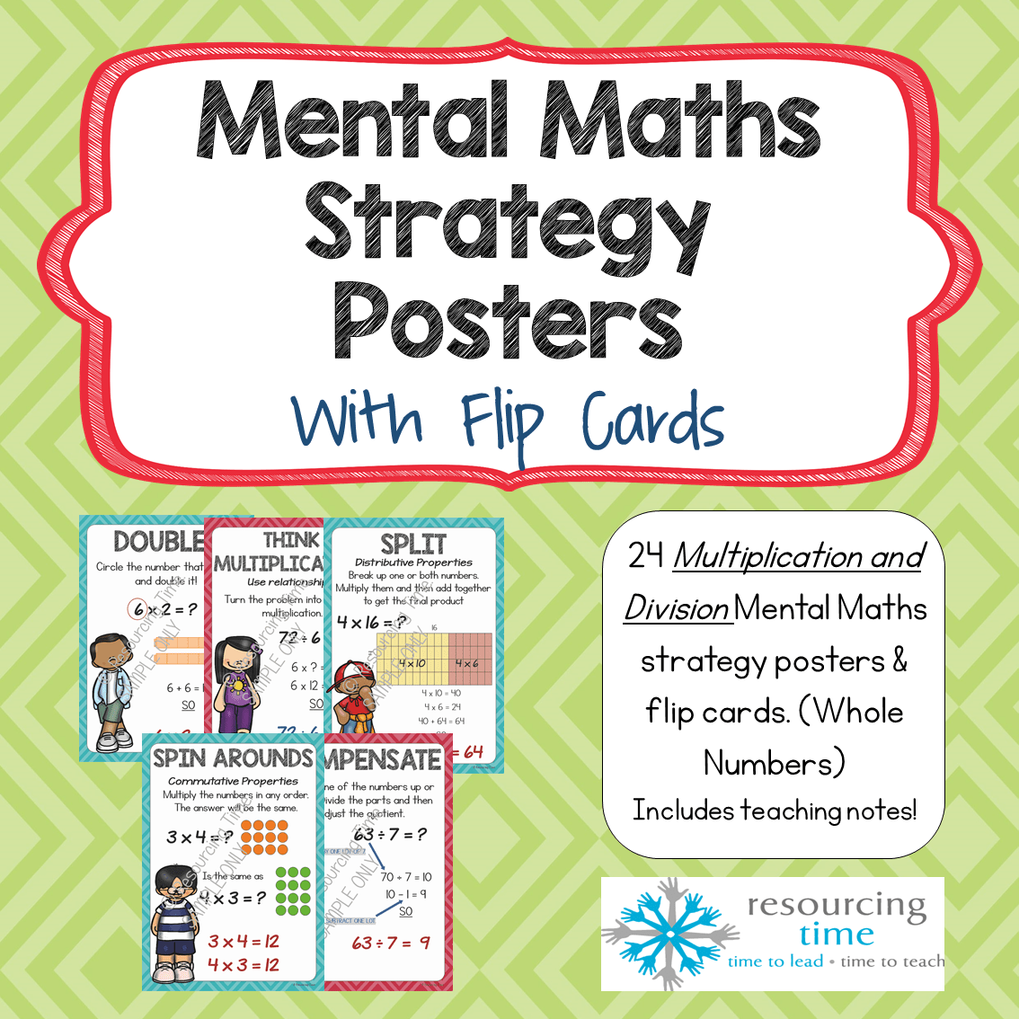 Mental Maths Strategy Posters Flip Cards