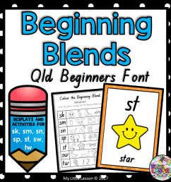 Beginning Blends sk sm sn sp st sw tw QLD Beginners Font: Worksheets and  Posters - The Alphabet Tree [ 945 x 945 Pixel ]