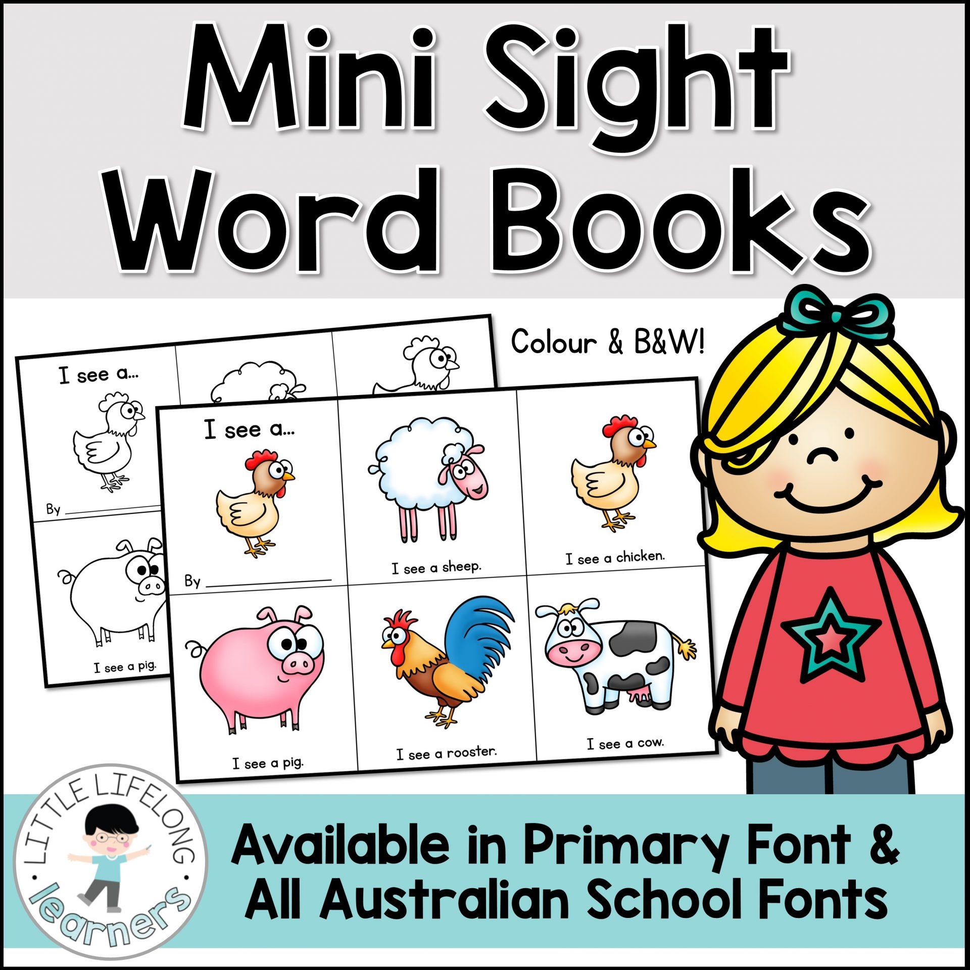 Mini Sight Word Books