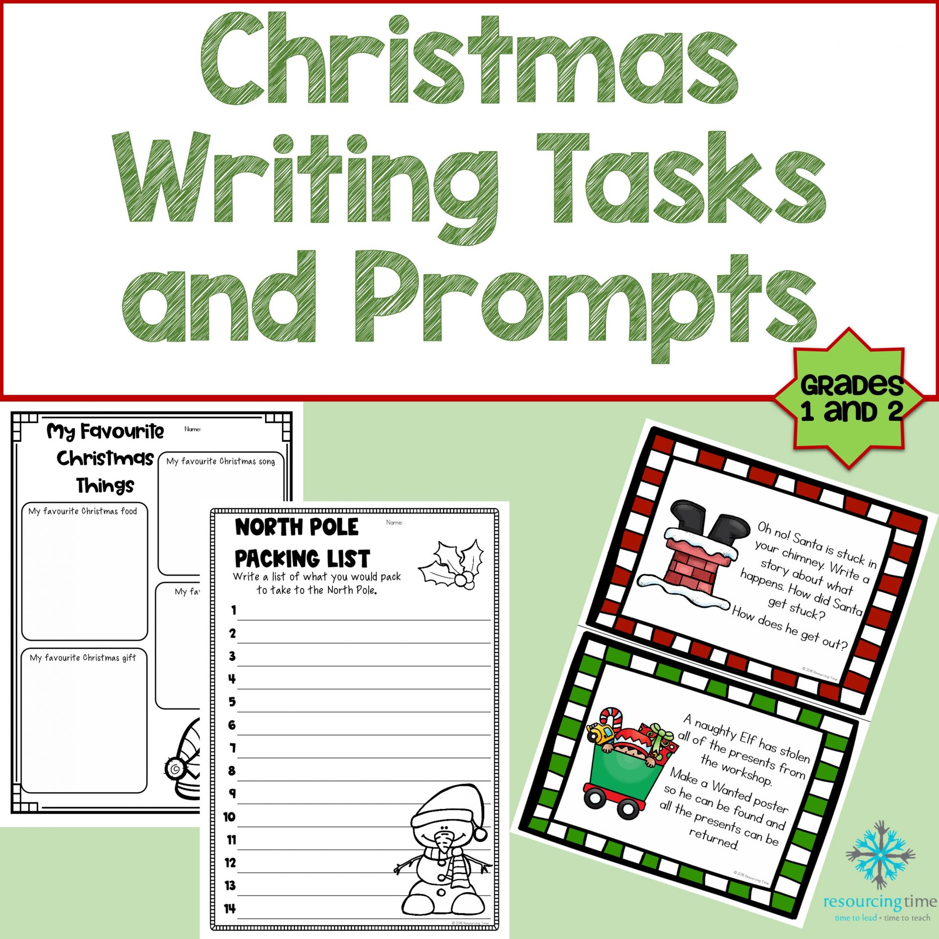 Year 1 Amp 2 Christmas Writing Activities And Prompts