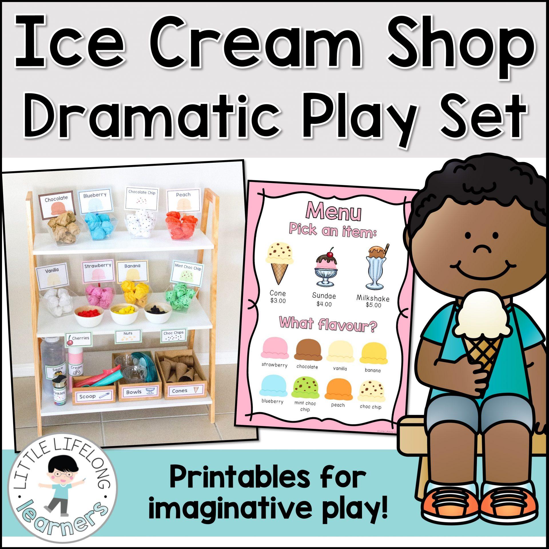Ice Cream Dramatic Play Set