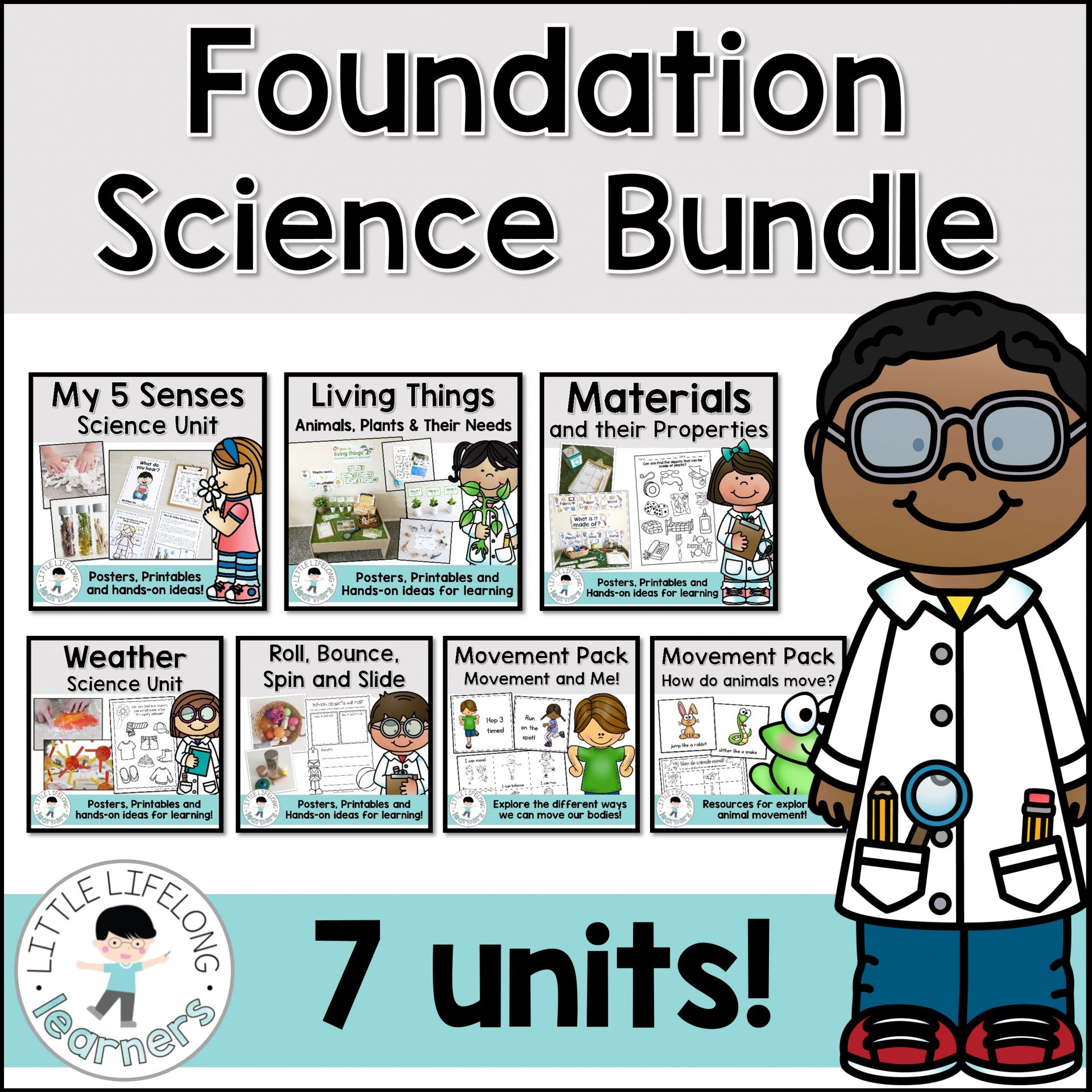 Prep And Foundation Science Unit Bundle
