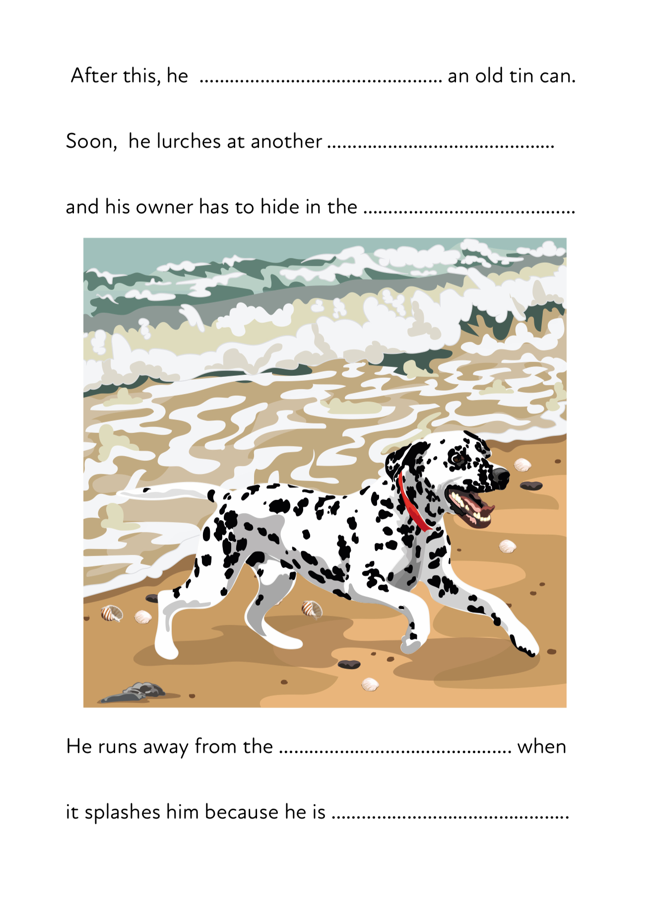 Pom Pom On The Beach A Fun Writing And Drawing Activity