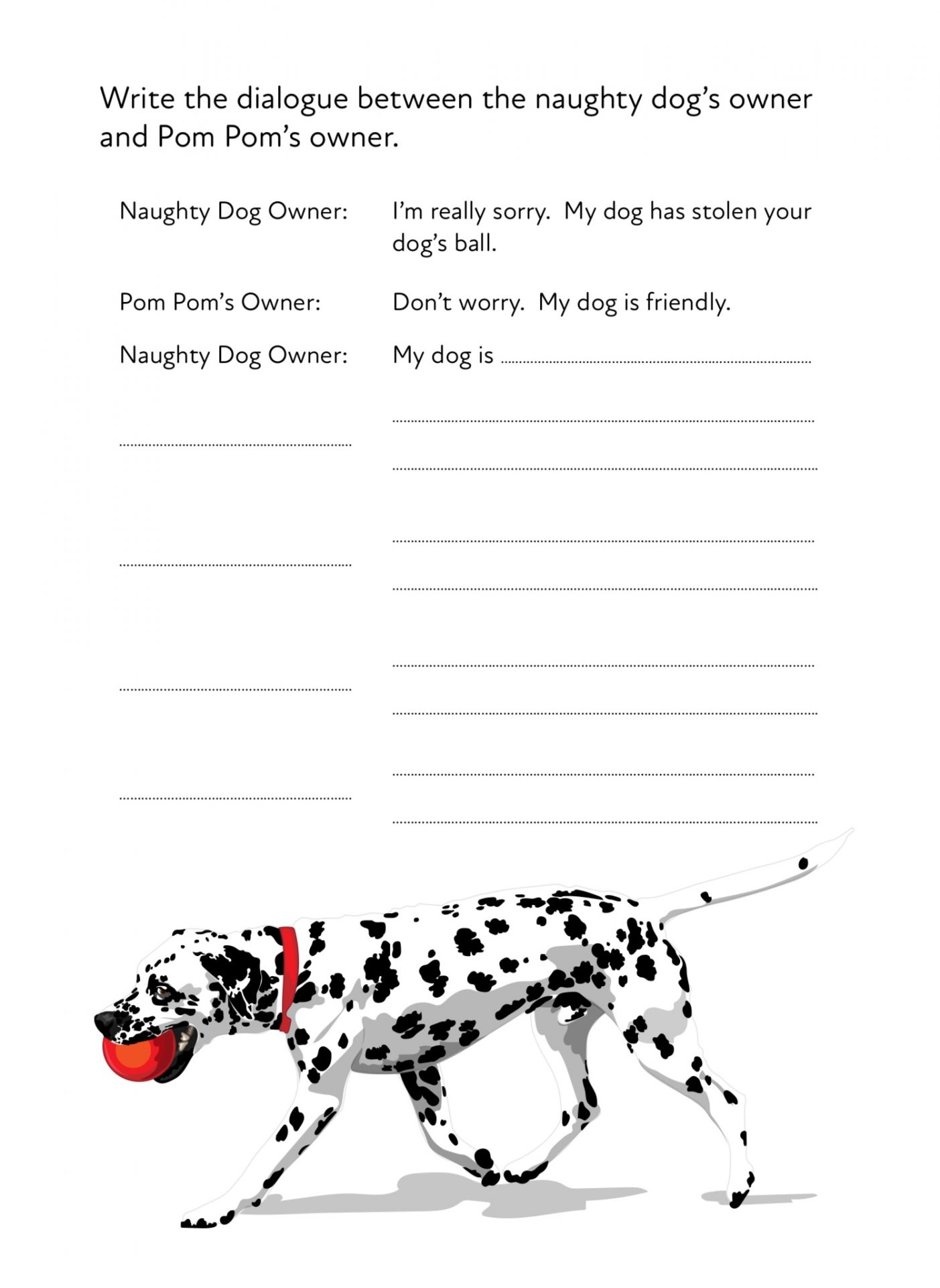 Pom Pom On A Walk A Fun Writing And Drawing Activity 6