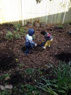 Playing in the sensory garden