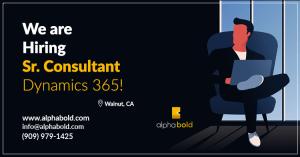 hiring senior consultant dynamics 365