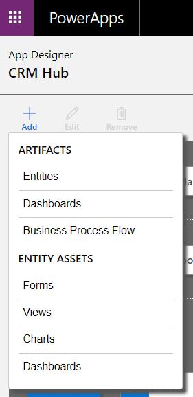 Entities in CRM Hub