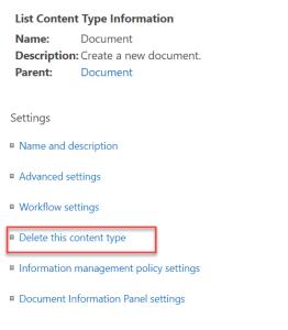 list content type information