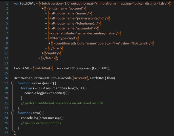 Dynamics CRM FetchXML with new Microsoft Dynamics CRM V9 API