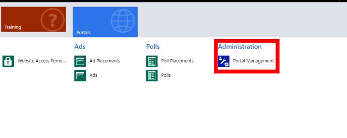 Portal Management Administration CRM Portal
