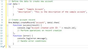 Xrm.WebApi create Record