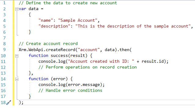Dynamics 365 v9 0: Xrm WebApi – CRUD Operations - Microsoft