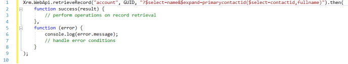 syntax to retrieve related entity record