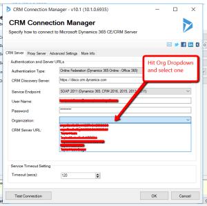 SSIS integration pro crm server url