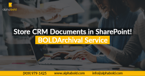 store crm document in sharepoint