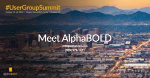 user group summit 2018 alphabold