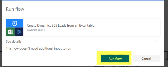 dynamics 365 leads excel table