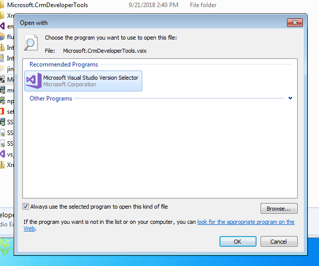 Microsoft Visual Studio Version Selector