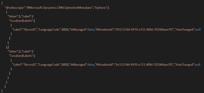 retrieval of status code