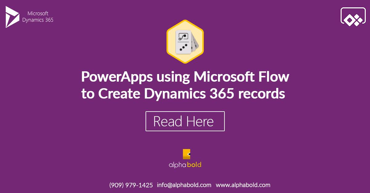 PowerApps using Microsoft Flow