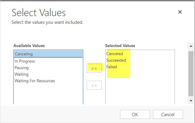 select values