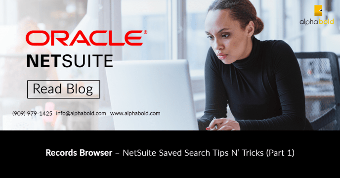 netsuite record browser saved search