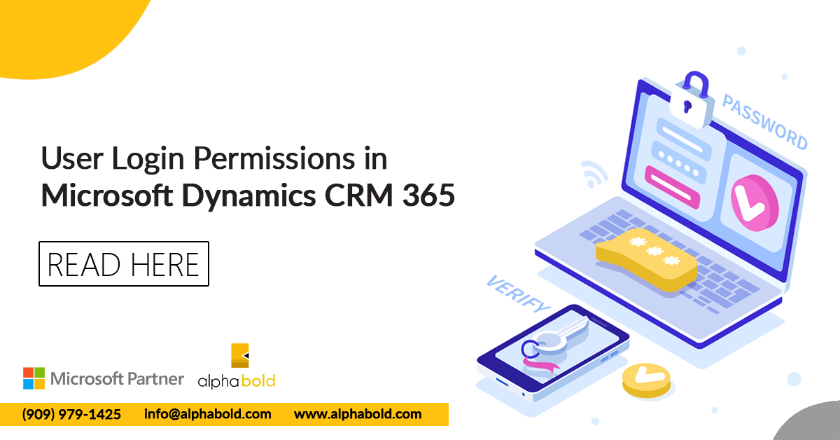 user login permission dynamics 365