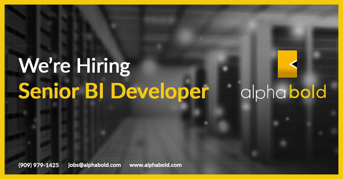 senior BI developer