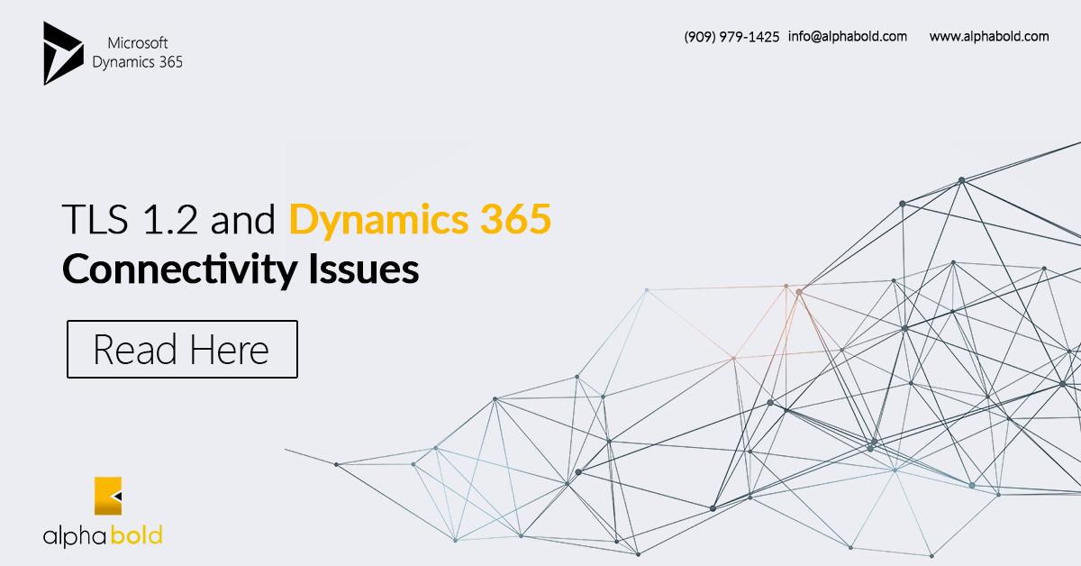 TLS Settings Dynamics 365