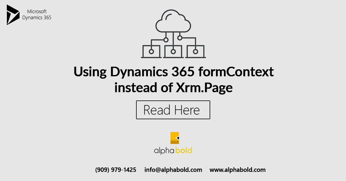 Xrm Page is deprecated  How do I use formContext in Dynamics 365